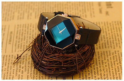 Women Girl Quartz Ladies Wrist Watch Fashion Leather Strap Black Elegan Classic