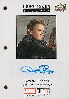 Marvel The First Ten (10) Years, Jeremy Renner Autograph Card LS-JR