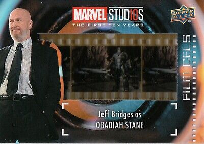 Marvel The First Ten (10) Years, Obadiah Stane Film Cell Card (Short Print)FC-21