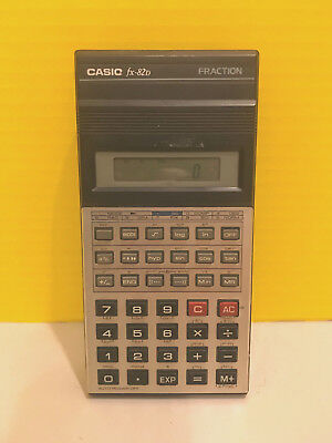 VINTAGE /RETRO Casio FX-82D SCIENTIFIC FRACTION CALCULATOR Working Condition