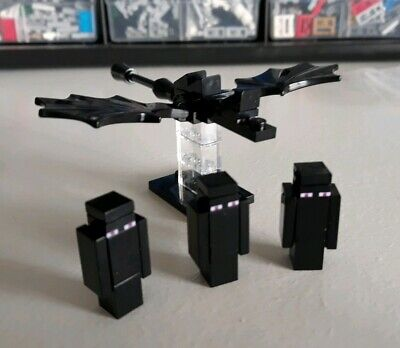 LEGO Minecraft Lot of 2 Enderman Minifigures from 21107 The End NEW