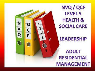 Leadership Management Diploma NVQ QCF Level 5 Health Social Care Adult Care