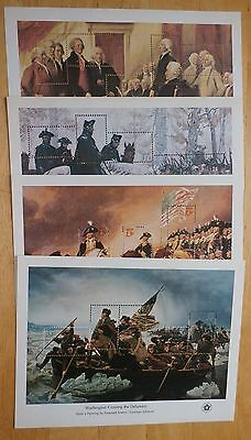 #1686-89, Set of 4 DIFF 1976 BICENTENNIAL SOUVENIR SHEETS, MNH Perfect Condition