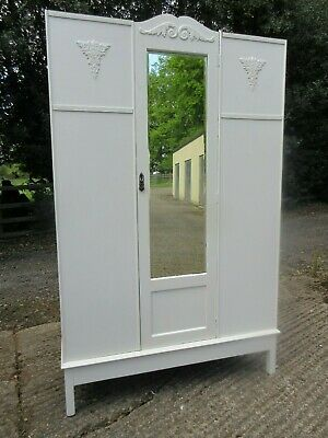 Vintage Early 20Thc Painted Wardrobe, Farrow & Ball