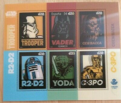 SELLO STAR WARS Stamp Spain 2016 sello filatélico