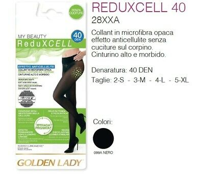 Golden Lady - My Beauty Reduxcell - Collant Donna Effetto Anticellulite 40 Den