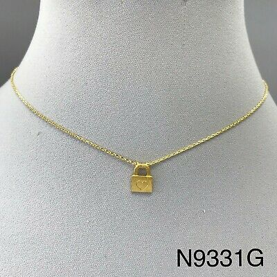 Simple Unique Gold Finish Kentucky State Shape Charm Design Dainty Necklace