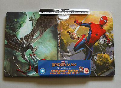 Spider-Man Homecoming - Uk Hmv Exclusive 4K Ultra Hd + 3D + 2D Blu-Ray Steelbook