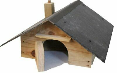 Hedgehog House with NATURAL SLATE ROOF and nesting compartment