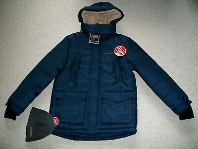 caa051c49 NWT Zeroxposur Boys Youth Size L (14-16) Hooded Jacket Beanie Navy Heather