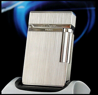 Lighter S.T  Memorial Silver color brushed lighter Bright Sound ! free shipping