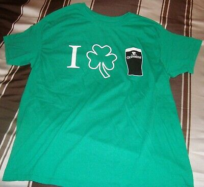 cca608d7 GUINNESS BEER OFFICIAL Merchandise Green Ringer St. Patrick's Day T ...