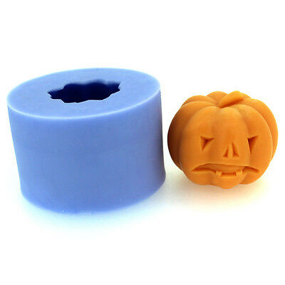 3D Halloween Pumpkin Silicone Candle Mold Soap Mold Craft Handmade Mould