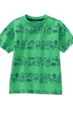 Gymboree 2T 3T Green Bug Tee Shirt Summer Insects