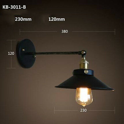 Copper Industry Retro Light Iron Diameter 38cm Wall Bracket Lamp Fixtures Home