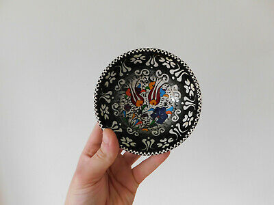 c.20th - Vintage Turkey Turkish  Multi Colour Pottery Bowl