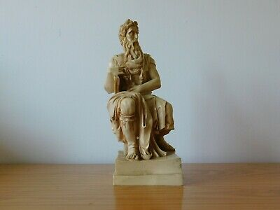 c.20th - Vintage Italy Italian Moses Mose Sculpture Resin Carving