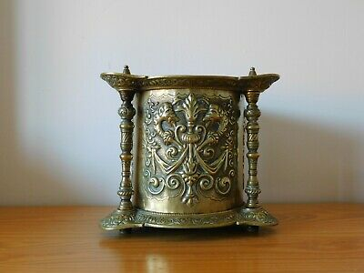 c.19th - Large Antique French France Bronze Planter Pot Centre Piece