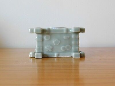 c.18th - Antique Chinese Celadon Porcelain Bamboo Inkwell - Qing