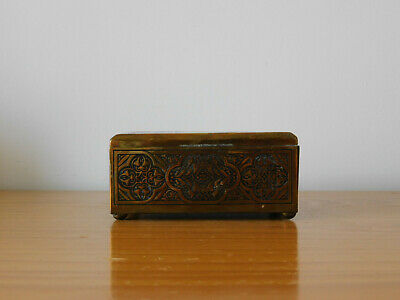 c.19th - Antique Persian Middle Eastern Brass Box