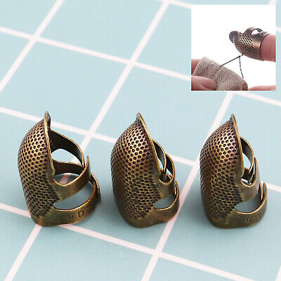 For Sewing Needlework Retro Finger Protector Thimble Sewing Needle Ring Copper