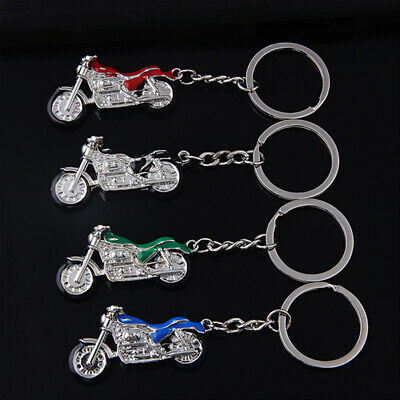 Creative Metal Mountain Bike Motorcycle Key Chain Ring 3D Keyring Keychain