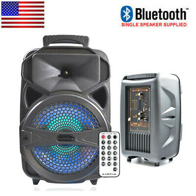 Portable Bluetooth Party Speaker System Stereo LED Stereo Tailgate Rechargeable