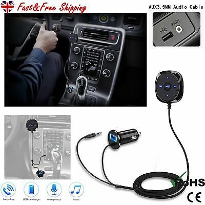 Car AUX Wireless Bluetooth Handsfree Kit FM Transmitter MP3 Player USB Charger