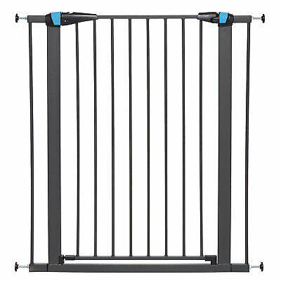 Midwest WalkThru Steel Pet Gate with Safety Glow Framed for Dogs in White