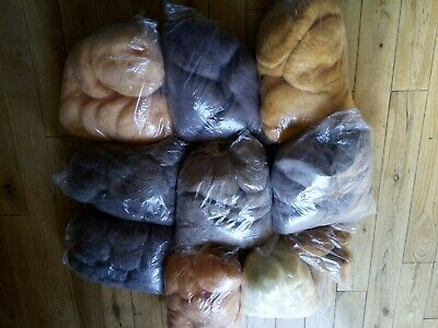 MOHAIR WOOL Bundle 3.9kg approx Various Colours Good Quality Mohair Wool