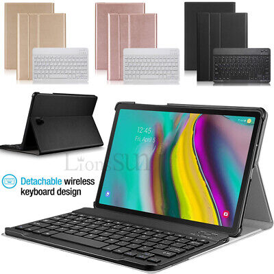For Samsung Galaxy Tab S5e 10.5 2019 T720 Bluetooth Keyboard +Leather Case Cover
