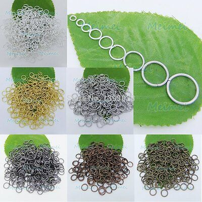 Wholesale Open Jump Rings Connectors Beads 4/5/6/7/8/10/12mm For Jewelry DIY Iy