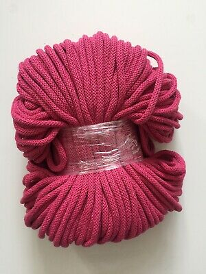 100m Light Light Pink 100/% Cotton 5mm Rope Yarn Macrame Cord With Inner Core