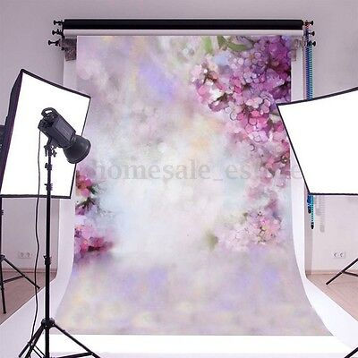 7x5ft purple Flower Baby Photography Background Vinyl Studio Photo Prop