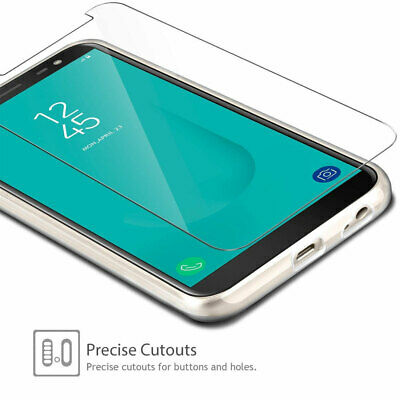 Tempered Glass Screen Protector Phone Case For Samsung Galaxy J6/J6 Plus 2018 Wr