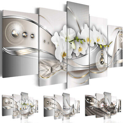 5Pcs Flower Giclee Art Canvas Print Modern Abstract Painting Wall Home Decor AU