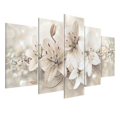 5Pcs Abstract Flower Canvas Print Art Painting Wall Picture Modern Home