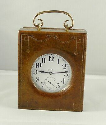 8 Days Goliath Pocket Watch in Leather Travelling Case by Vickery Regent Street