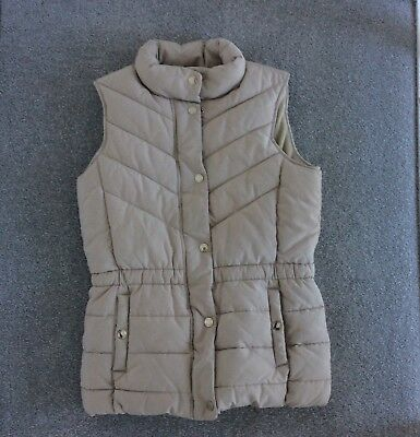 Massimo Dutti Girls Beige Quilted Gilet