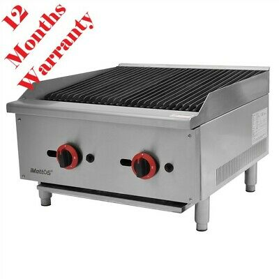 Commercial Char Broiler Grill BBQ 2 Burner Imettos 101055