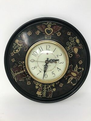 Vintage General Electric Wall Clock Model 2H69 Birds Dutch Metal Working