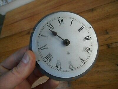 Vintage Great Britain Smith ? Alarm Clock Movement Dial Face Parts