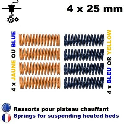 4 x Ressort plateau lit chauffant 25 mm Heated Bed Spring Imprimante 3D Printer