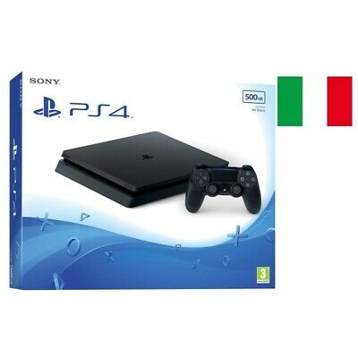 Sony Playstation Ps4 Slim 500Gb Chassis F (Cuh-2216A) Black Garanzia Italia
