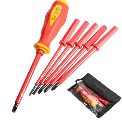 1000V Electricians Screwdriver Set Tool Electrical Fully Insulated 7Pcs