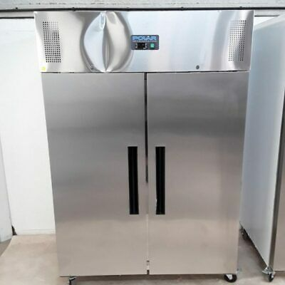 Commercial Fridge Double 2 Door Stainless Chiller Polar G594