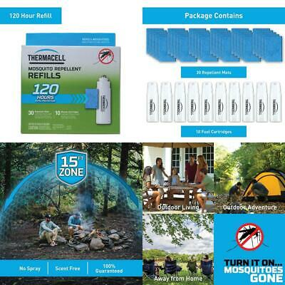 Thermacell Mosquito Repellent Refills, 120-Hr Pack; Contains 30 Mats, 10...