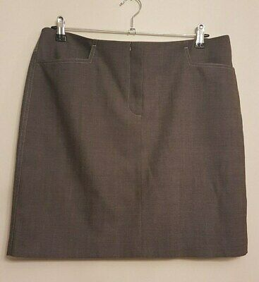 Ref 227 - NEXT - Ladies Womens Girls Brown Office Day Summer Lined Skirt Size 16