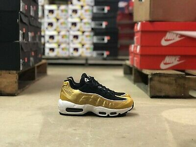 13fea4ad91 Nike Air Max 95 Womens Running Shoe Black/Gold AA1103 700 NEW Multi Sizes