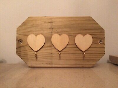 love heart key holder plaques